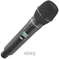 2 Channel UHF Wireless Microphone System with 2 Handheld Wireless Microphones