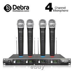 4 Channel 4 Handheld cordless Mic UHF Wireless Microphone System UT4 Type MIC