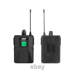 4 Channel Wireless Microphone System 2 Handheld 2 Headset Lavalier Pro UHF Audio