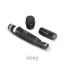 4 Channel Wireless Microphone System 4 Handheld Metal Mic Pro Audio UHF Karaoke