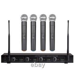 4 mic Wireless Microphone System UHF Professional 4 Handheld Wireless mic System