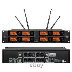 8 Channel Pro Audio Wireless Microphone System UHF 8 Handheld Metal Dynamic Mic
