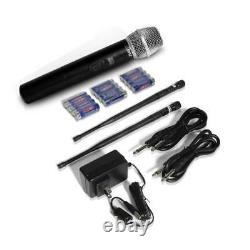 8-Channel Wireless Microphone & Receiver System 8 Handheld Transmitter Mics