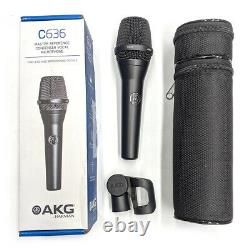 AKG C636 Master Reference Condenser Handheld Vocal Microphone MINT CONDITION