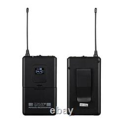 Audio Wireless Microphone System 4 Channel Pro UHF 2 Handheld 2 Headset Lavalier