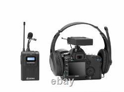 BOYA BY-WM8 Pro-K1 UHF Wireless Lavalier Microphone Kit for EFP DSLR Camera New