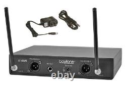Boytone BT-48UM UHF Wireless Dual Handheld Professional Microphone System 100 Ch