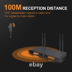 Debra Audio D-240 4 Channel Handheld or Lavalier UHF Wireless Microphone System