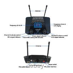 Dual 15 Inch 5000W Active Audio PA Powered Speaker 2CH UHF Wireless Handheld Mic