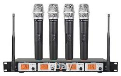 GTD Audio 4 Channel UHF Handheld Wireless Microphone System Mic (Brand New) 504H