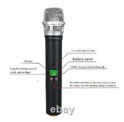 GTD Audio 4x800Ch Diversity Wireless Handheld Lavaliere Headset Microphone 787HL