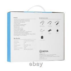New Boya BY-WM8 Pro-K2 Upgraded UHF Dual-channel Wireless Microphone System Kit