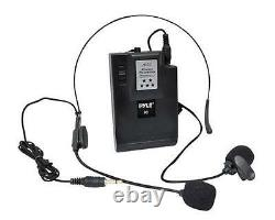 New Pyle 400W Wireless PA System WithUSB SD MP3 FM Radio 1 Lavalier 1 Handheld Mic