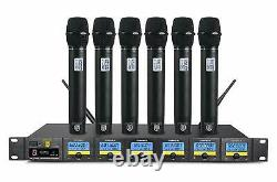 PRORECK MX66 6-Channel UHF Wireless Microphone System with 6 Hand-held Microphon