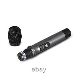 Pro UHF Audio Wireless Microphone System 4 Channel 2 Handheld Headset Lavalier