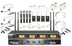 Pro UHF Wireless Music Karaoke Microphone System For Large Concert Stage Church
