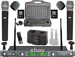 Professional Dual Wireless Microphones UHF 100 channel cordless mics karaoke mic