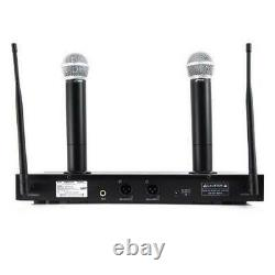 Pyle PDWM2560 UHF Handheld Mic System With 2 Microphones, Selectable Frequency
