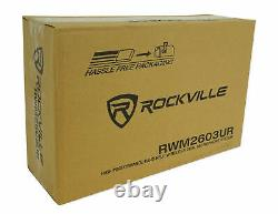 Rockville RWM2603UR UHF Wireless Dual Recharageable HandHeld Microphone System