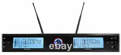 Rockville RWM3300UA 200 Channel UHF Wireless Dual HandHeld Microphone Mic System