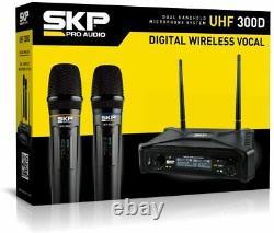 SKP Pro Audio UHF-300D Digital Wireless Vocal Dual Handheld Microphone System