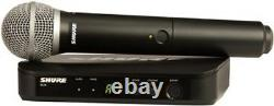 Shure BLX24/PG58 Hand-held Wireless Microphone System! UHF H10 Frequency Range