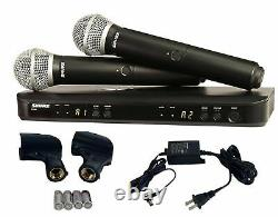 Shure BLX288/PG58 Dual Channel Handheld Vocal Microphone System H9 NEW WARRANTY