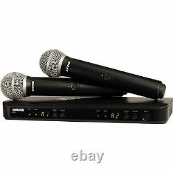 Shure BLX288/PG58 H9 Dual Handheld Wireless Microphone Mic System, -Auth. Dealer