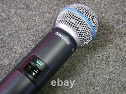 Shure GLXD2 Handheld Transmitter With Beta 58A Microphone Capsule Z2