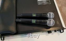 Shure UHF-R L3 Wireless Microphone System UR4D with 2handhelds sm58