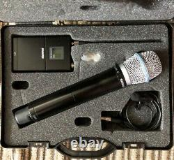 Shure wireless Microphone kit UR1 Tx with Mic and UR2/BETA87A HH Tx in case, J5
