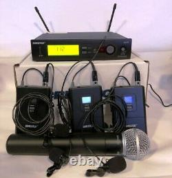 Shure wireless SLX4-H5 system Receiver SLX1 body pack with Mic & 1 SLX2 handheld