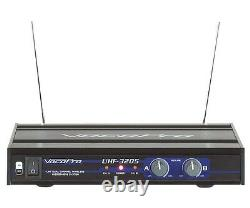 VocoPro UHF-3205 UHF Dual Recharge Wireless Microphone (with 900MHz)