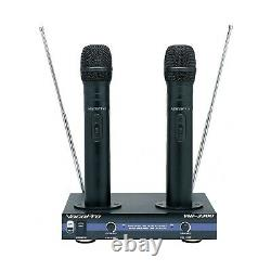 VocoPro VHF-3300 Dual Wireless Rechargeable Microphone System
