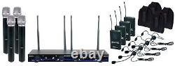 Vocopro Digital-34-Ultra 4 channel wireless handheld/headset/instrument System