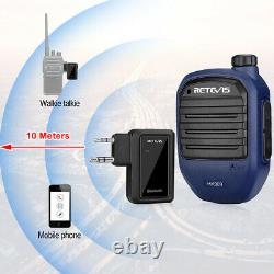 Wireless Bluetooth V4.2 Speaker Mic for Baofeng UV5R Kenwood 2Pin Walkie-Talkie