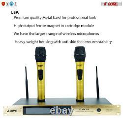 Wireless Microphone Dual Handheld 2 x Mic Cordless Receiver 5Core WM33e