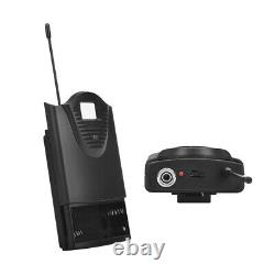Wireless Microphone System 4 Channel Pro UHF Audio 2 Handheld 2 Headset Lavalier