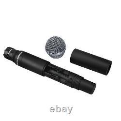 Wireless Microphone System Pro Audio UHF 4 Channel 4 Handheld Dynamic Mic Karaok