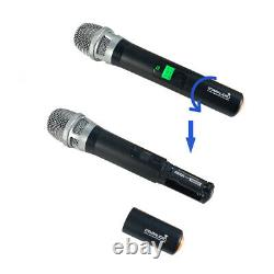 Wireless Microphone System UHF 4Channel Pro Audio 4 Handheld Dynamic Karaoke Mic
