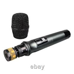 Wireless Microphone System UHF 6 Channel Pro Audio 6 Handheld Metal Dynamic KTV