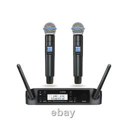 1 À 2 Glxd4 Uhf Sans Fil Karaoke Dj Microphone System Dual Beta Handheld 58 MIC