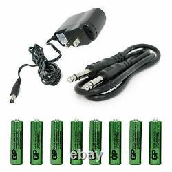 2020 Emb Audio 4 Channel Quad Uhf Mainheld Wireless Microphone MIC 6-8 Hr
