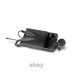 4 Canaux 2 MIC Portatif & 2 Lavalier & 2 Écouteurs Sans Fil Uhf Microphone