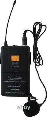 4-ch Uhf Diversity Wireless Handheld Lavalier Microphone System 4x40fq Mu-udx4hl