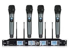 4x100 Channel Wireless Vocal Handheld Microphone Set Pour Sennheiser Sans Fil