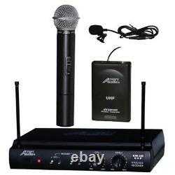 6032l Uhf Lapel Lavalier Et Système De Microphone Sans Fil Combo Portatif