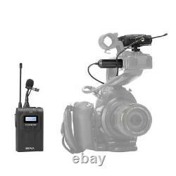 Boya By-wm8 Pro-k1 Uhf Wireless Lavalier Microphone Kit Pour Efp Dslr Camera Nouveau