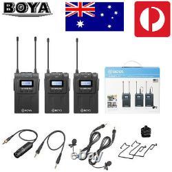 Boya By-wm8 Uhf Pro-k2 2 Channel Wireless Lavalier Microphone System For Eng Efp