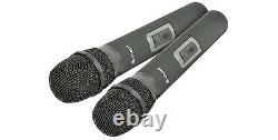 Chord Nu2 Dual Uhf Handheld Wireless Microphone System 171,975 Dj Disco Karaoke